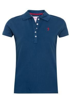 Camisa Polo Aleatory Bordado Azul