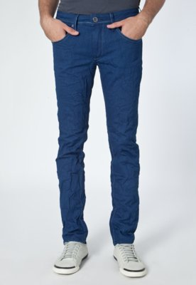 Calça Jeans Skinny Super Amassados Azul - Calvin Klein Jean...