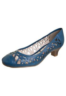 Sapato Scarpin Bottero Vazado Salto Baixo Azul