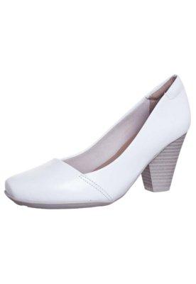 Sapato Scarpin Dayflex Salto Grosso Branco