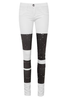 Calça Jeans Skinny Espaço Fashion Urbana Branca