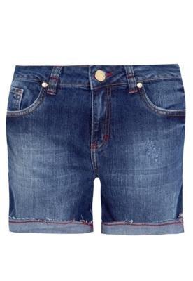 Bermuda Jeans Cantão Stone Azul
