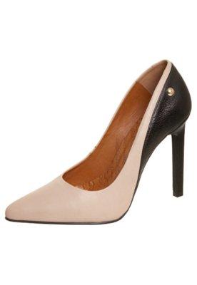 Sapato Scarpin Bicolor Nude/Preto - Triton