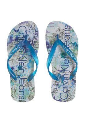 Chinelo Calvin Klein Jeans Pack Azul
