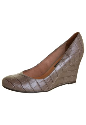 Sapato Scarpin Anna Flynn Textura Marrom - Anna Flynn Casual