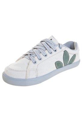 Sapatênis Green Co EcoPet Folhas Off-White
