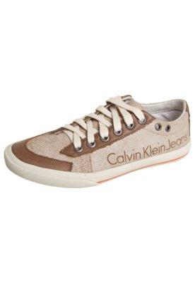 Tênis Calvin Klein Kids Craquelado Bege