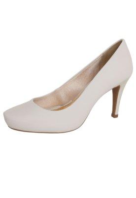 Sapato Scarpin Azaleia Bico Redondo Branco
