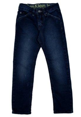 Calça Jeans Calvin Klein Jeans Skinny Strech Azul - Calvin ...