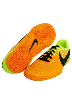 Chuteira Futsal Nike 5 Elastico II Laranja/Amarelo
