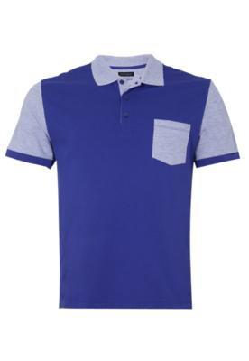 Camisa Polo Featured Azul - FiveBlu