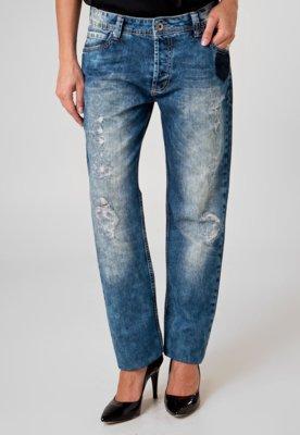 Calça Jeans Colcci Boyfriend Tomboy Destroyed Azul