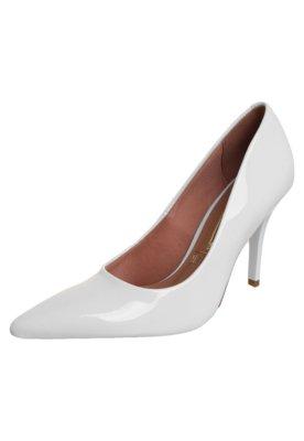 Sapato Scarpin Vizzano Bico Fino Salto Alto Branco