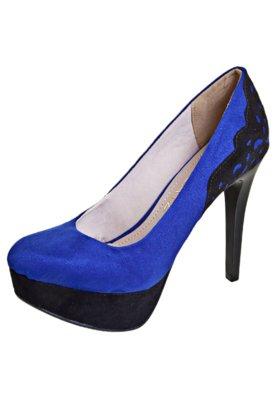 Sapato Scarpin Recorte Azul - Zatz