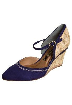 Sapato Scarpin Cravo e Canela Palha Azul - Cravo & Canela