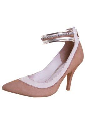 Sapato Scarpin Tanara Pulseiras Bege