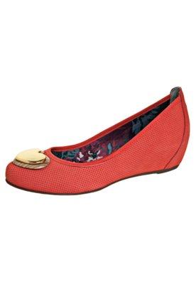 Sapato Scarpin Anabela Embutida Coração Vermelho - Cravo &...