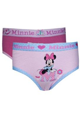 Kit 2 Calcinha Minnie Love Rosa