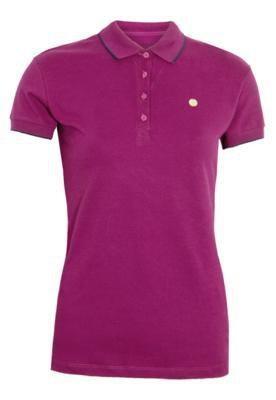 Camisa Polo Plaquinha Roxa - Calvin Klein Jeans