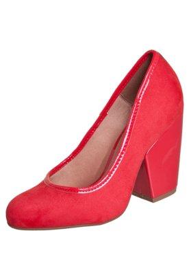 Sapato Scarpin Vizzano Salto Grosso Vermelho