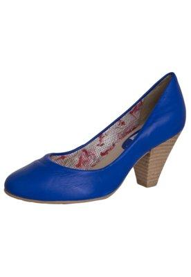 Sapato Scarpin Bottero Salto Médio Básico Azul