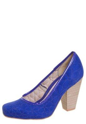 Sapato Scarpin Dijean Matelassê Azul