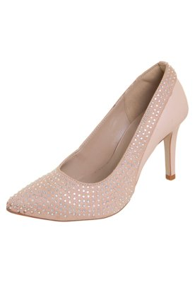 Sapato Scarpin Pink Connection Strass Nude