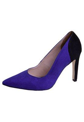 Sapato Scarpin Anna Flynn Recorte Azul