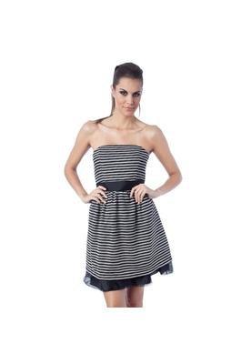 Vestido Amarração Listrado - Claudia Simoes