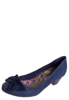 Sapato Scarpin Salto Baixo Bottero Laço Azul
