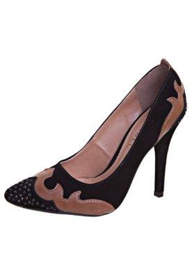Sapato Scarpin FiveBlu Recortes Preto
