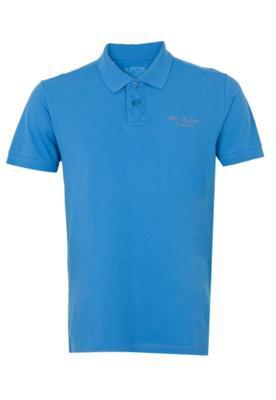 Camisa Polo Bordado Azul - M. Officer
