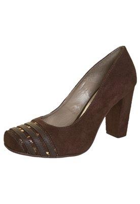 Sapato Scarpin Anna Flynn Tiras Marrom