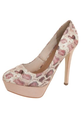 Sapato Scarpin Píton Rio Cobalt Rosa - FiveBlu