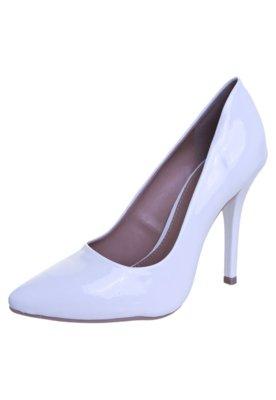Sapato Scarpin FiveBlu Verniz Branco
