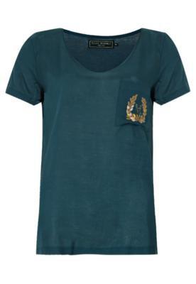 Blusa Ellus Silk Touch Maringal Azul