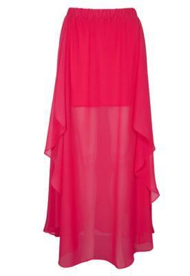 Saia Longa Fiveblu Fashion Rosa