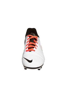 Chuteira Campo Nike CTR360 Enganche III FG Branca/Laranja/Pr...