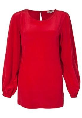 Blusa Seda Carina Duek Violeta Vermelha
