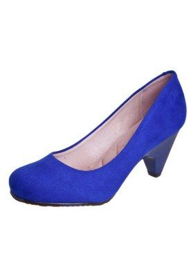 Sapato Scarpin Moleca Class Azul