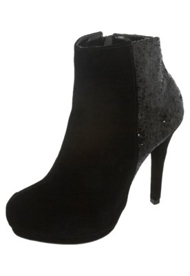 Ankle Boot Brilho Preta - FiveBlu