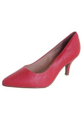 Sapato Scarpin Vizzano Salto Alto Bico Fino Vermelho