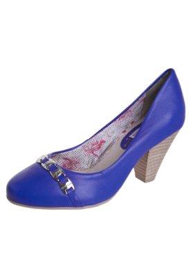 Sapato Scarpin Bottero Salto Médio Ferragem Logo Azul