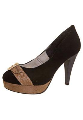 Sapato Scarpin FiveBlu Fivela Preto
