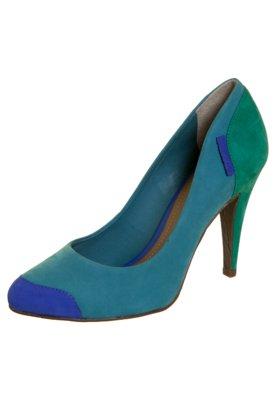 Sapato Scarpin Color Bock Azul - Dumond
