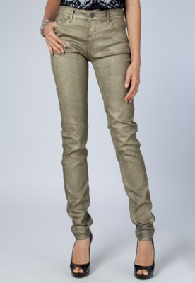 Calça Jeans Triton Fátima Skinny Dourado