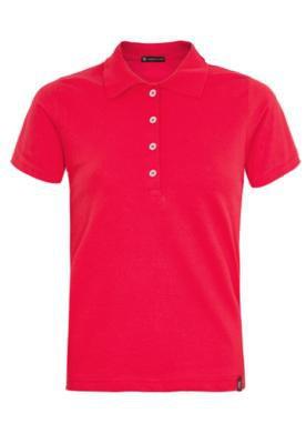 Camisa Polo Anna Flynn Color Pratic Vermelha