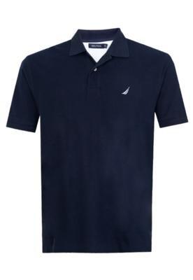 Camisa Polo Nautica Naut Azul Marinho