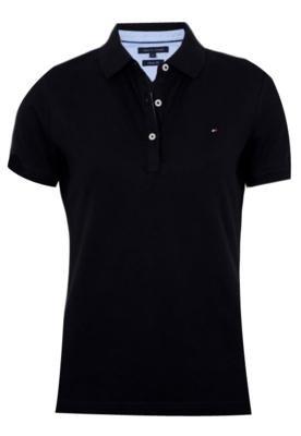 Camisa Polo Tommy Hilfiger Basic Preta