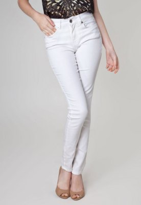 Calça Jeans Canal Skinny Clean Off-White